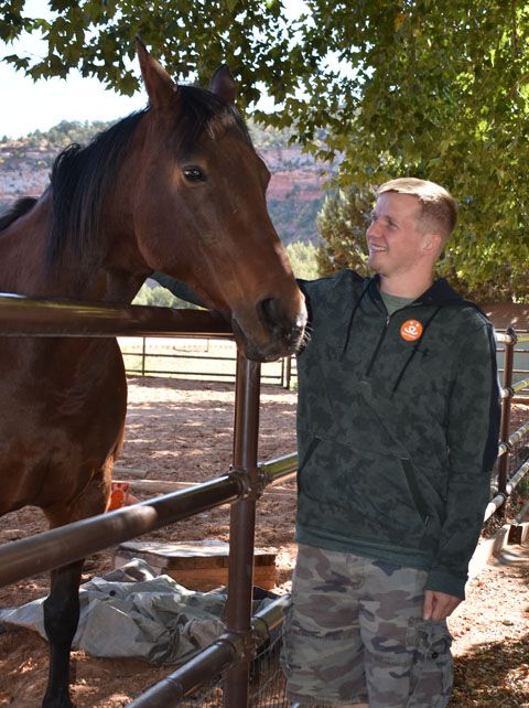 Vacationer with Horse